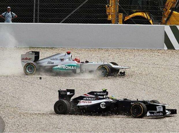 Michael Schumacher und Bruno Senna