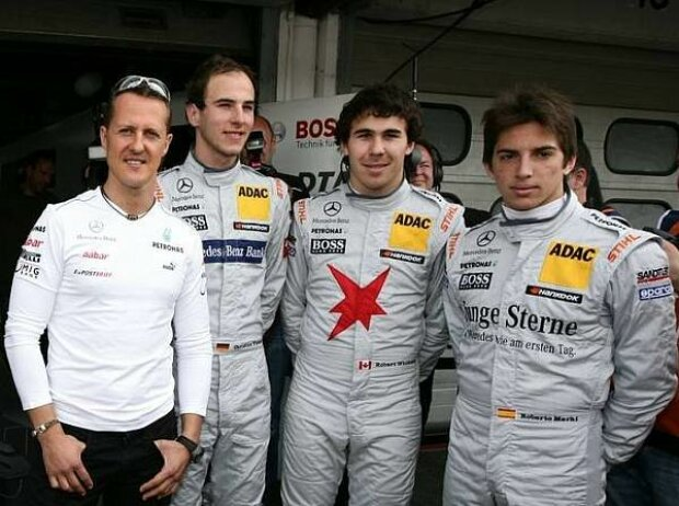 Michael Schumacher, Christian Vietoris, Robert Wickens, Roberto Merhi
