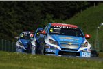 Alain Menu (Chevrolet), Yvan Muller (Chevrolet) und Robert Huff (Chevrolet)