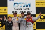 Bruno Spengler (Schnitzer), Gary Paffett und Mike Rockenfeller (Phoenix-Audi)