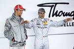 Jenson Button (McLaren) und Gary Paffett (HWA-Mercedes)