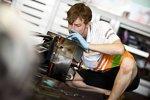Force-India-Mechaniker bei der Arbeit