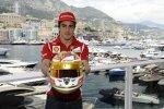 Spezielles Monaco-Helmdesign von Fernando Alonso (Ferrari)