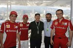 Fernando Alonso, Felipe Massa, Hollywood-Regisseur Ron Howard und Teamchef Stefano Domenicali