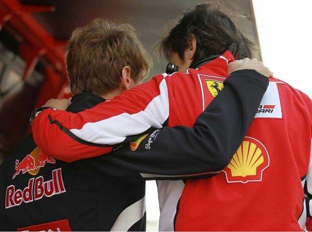Sebastian Vettel und Massimo Rivola