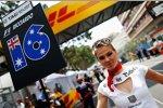 Gridgirl von Daniel Ricciardo (Toro Rosso)