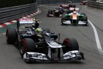 Bruno Senna (Williams), Paul di Resta (Force India) und Daniel Ricciardo (Toro Rosso)