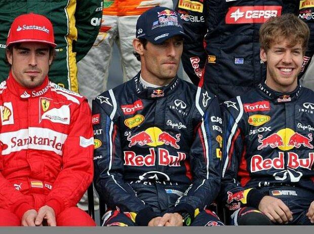 Fernando Alonso, Mark Webber, Sebastian Vettel