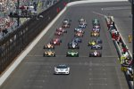 Pre-Start mit Ryan Briscoe (Penske), James Hinchcliffe (Andretti) und Ryan Hunter-Reay (Andretti)