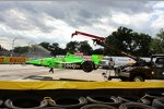 Das Wrack von James Hinchcliffe (Andretti)