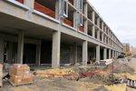 Baufortschritte am Paddock-Gebäude, in dem Teams, Medien und VIP-Gäste untergebracht werden sollen.