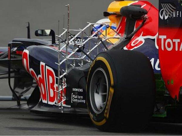 Honigwaben-Messgerät am Red Bull von Sebastian Vettel
