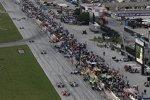 Action in der Pitlane des Texas Motor Speedway