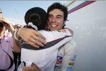 Sergio Perez und Teamchefin Monisha Kaltenborn (Sauber)