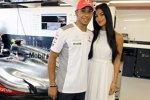 Lewis Hamilton (McLaren) und Nicole Scherzinger
