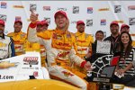 Ryan Hunter-Reay (Andretti) in der Victory Lane
