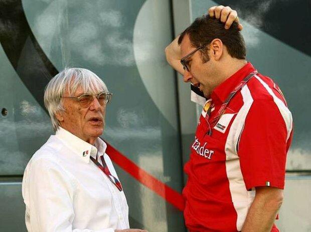 Bernie Ecclestone (Formel-1-Chef), Stefano Domenicali (Ferrari-Teamchef)