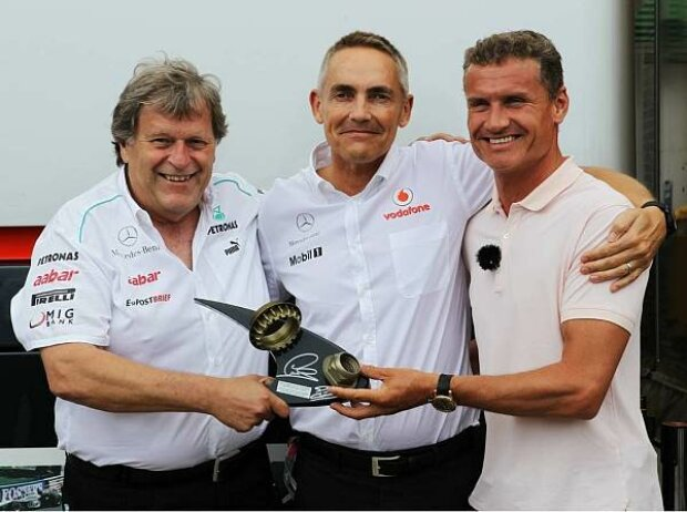 David Coulthard, Martin Whitmarsh (Teamchef, McLaren), Norbert Haug (Mercedes-Motorsportchef)