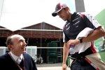Pastor Maldonado (Williams) und Frank Williams (Teamchef)