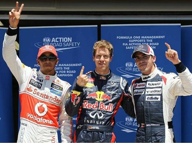 Lewis Hamilton, Sebastian Vettel, Pastor Maldonado