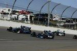 Heat-Race 2: Alex Tagliani (Herta), Rubens Barrichello und Tony Kanaan (beide KV)