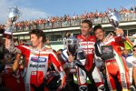 Nicky Hayden, Troy Bayliss und Valentino Rossi