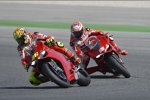 Valentino Rossi vor Nicky Hayden
