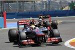 Lewis Hamilton (McLaren) und Kimi Räikkönen (Lotus)