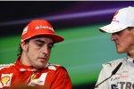 Fernando Alonso (Ferrari) und Michael Schumacher (Mercedes)