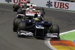 Bruno Senna (Williams) und Sergio Perez (Sauber)