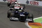 Bruno Senna (Williams) und Sergio Perez (Sauber)