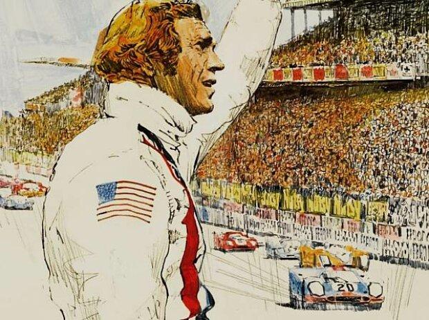 Plakat für den Le-Mans-Film