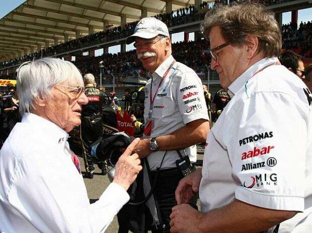 Bernie Ecclestone (Formel-1-Chef), Norbert Haug (Mercedes-Motorsportchef)