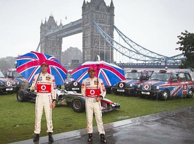 Jenson Button und Lewis Hamilton in London
