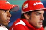 Lewis Hamilton (McLaren) und Fernando Alonso (Ferrari)