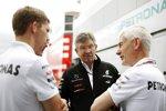 Ross Brawn (Mercedes-Teamchef) und Geoff Willis
