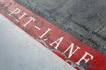 Die Pitlane in Silverstone