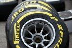 Pirelli-Reifen vor dem Einsatz