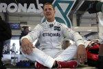 Michael Schumacher (Mercedes) ganz entspannt.
