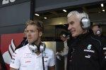 Sam Bird und Geoff Willis (Mercedes)