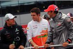 Nico Rosberg (Mercedes), Paul di Resta (Force India) und Jenson Button (McLaren)
