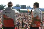 Nico Hülkenberg (Force India) und Paul di Resta (Force India)