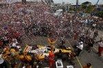 Ryan Hunter-Reay (Andretti) gewann zum dritten Mal hintereinander