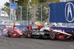 Kollision zwischen Dario Franchitti (Ganassi) und Ryan Briscoe (Penske)