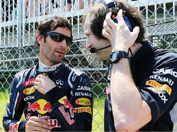 Mark Webber und Ciaron Pilbeam