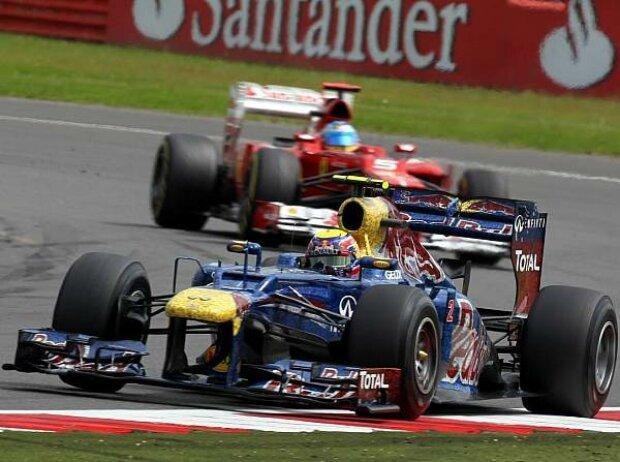 Mark Webber vor Fernando Alonso