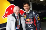 John Surtees und Mark Webber (Red Bull)