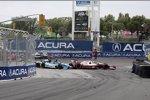 Ende: Marco Andretti (Andretti), Simon Pagenaud (Sam Schmidt), Ryan Briscoe (Penske) und Dario Franchitti (Ganassi)