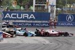 Ende: Marco Andretti (Andretti), Simon Pagenaud (Sam Schmidt), Ryan Briscoe (Penske), Dario Franchitti (Ganassi) und Ed Carpenter (Carpenter)