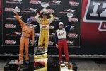 Ryan Hunter-Reay (Andretti), Charlie Kimball (Ganassi) und Mike Conway (Foyt)